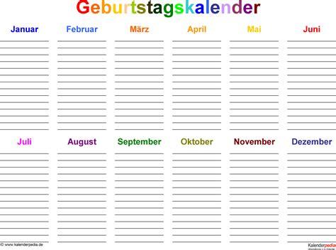 Kalender Online Drucken Monat by Geburtstagskalender Kostenlos Ausdrucken Orjinalzayiflama Us