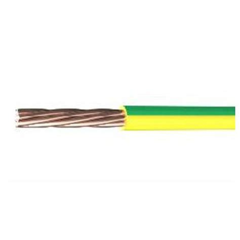 yellow electrical cable 16mm 6491b green and yellow single cable sold per metre