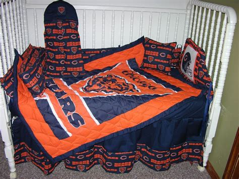 chicago bears bedding crib nursery bedding set made w chicago bears double