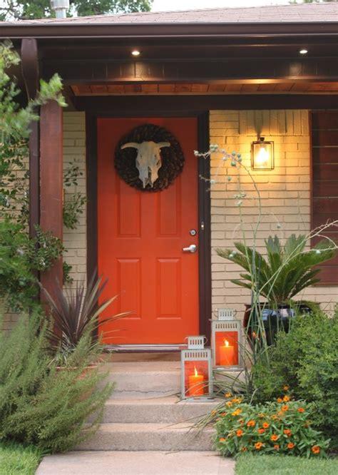 orange front door orange front door with ikea lanterns for the home