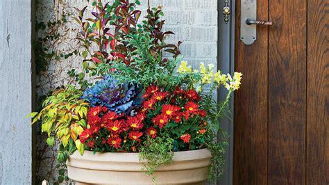 Fall Flower Garden Ideas Fall Container Gardening Ideas Southern Living