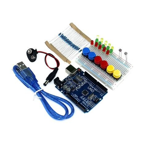 Starter Kit Uno R3 Mini Breadboard Led Jumper Wire Button For Arduino 1 free shipping new starter kit uno r3 mini breadboard led jumper wire button for arduino