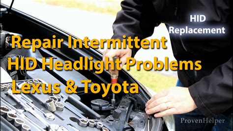 lights problems how to repair lexus intermittent hid headlight problems