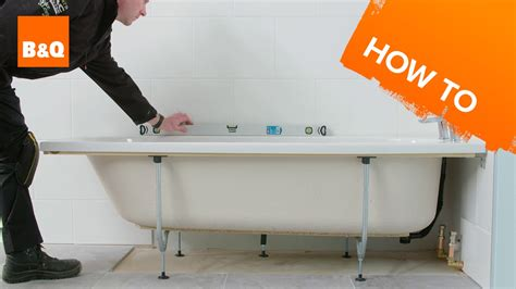 how to fit a bathtub in a small bathroom how to install a standard acrylic bath youtube