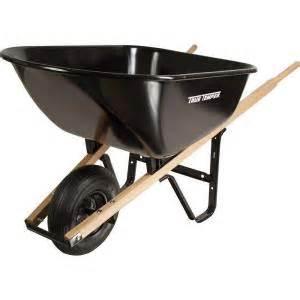 home depot wheelbarrow true temper 6 cu ft steel wheelbarrow s6but25 the home