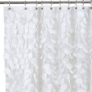 Shower Curtains White Fabric Buy Gigi 72 Inch X 72 Inch Fabric Shower Curtain In White From Bed Bath Beyond