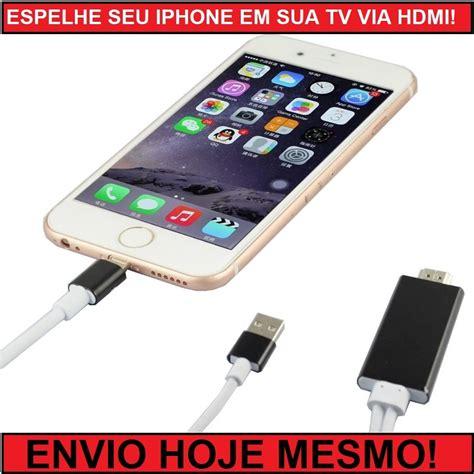 Z Iphone Na Tv Cabo Para Espelhamento Na Tv Iphone 5 6 Apple Hdmi R 154 99 Em Mercado Livre