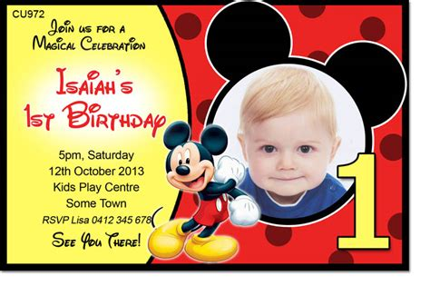 40th birthday ideas birthday invitation maker mickey mouse