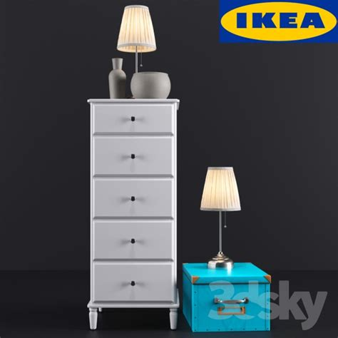 tyssedal dresser hack 3d models sideboard chest of drawer ikea tyssedal