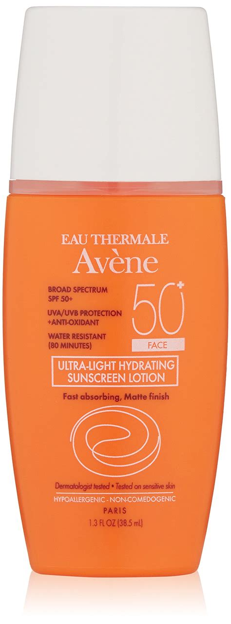 avene eau thermale ultra light hydrating sunscreen lotion amazon com eau thermale av 232 ne spf 50 plus hydrating