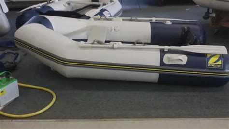 zodiac boat oars inflatable boat center s zodiac 260 airlight setup youtube
