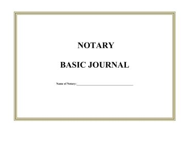 printable notary journal single page legal pleading template