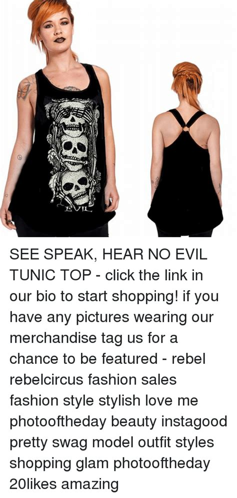 Speak Tunic see speak hear no evil tunic top click the link in our