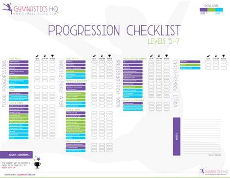 gymnastics skill progression checklists