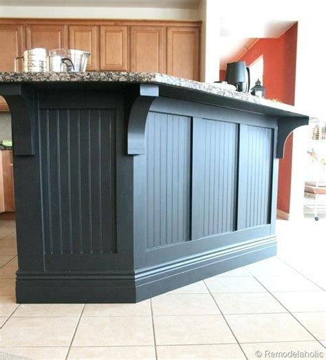 wainscoting kitchen island wainscoting kitchen kitchen island makeover with corbels
