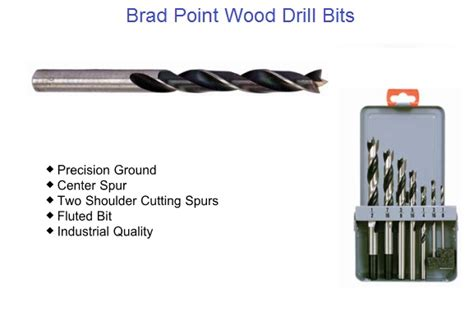 brad point bits woodworking brad point wood drill bit sizes1 8 to 1 quot