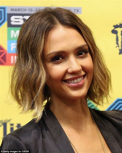 latest hairstyles 2015 daily mail jessica alba at sxsw as she talks about the honest company