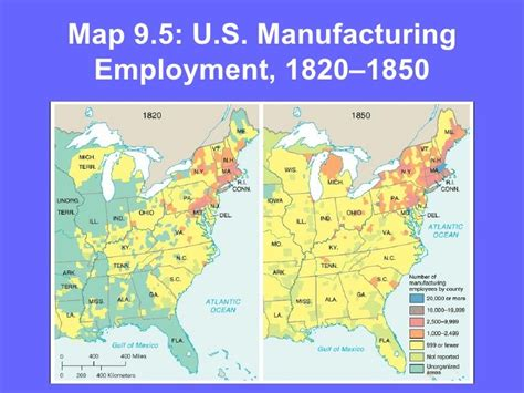 map of usa in 1850 1820 1850 u s manufacturing employment 1820 1860
