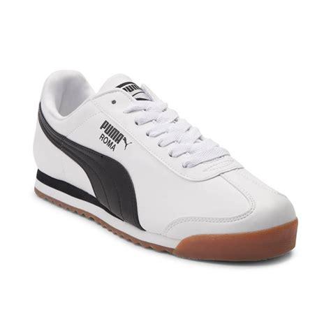 pumas shoes for mens roma athletic shoe whiteblackgum 361568