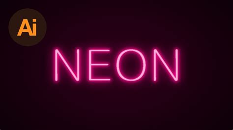 typography tutorial neon how to create a neon text effect in adobe illustrator