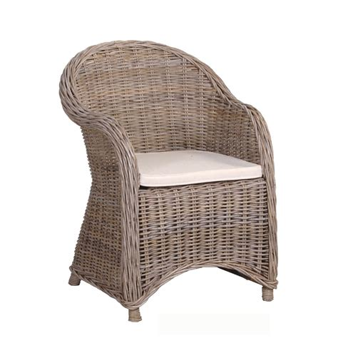 wicker armchair rattan armchair with cushion luxury dining furniture