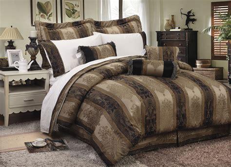 Bedroom Bedding Sets by 7 Pienza Jacquard Comforter Set Gold Navy