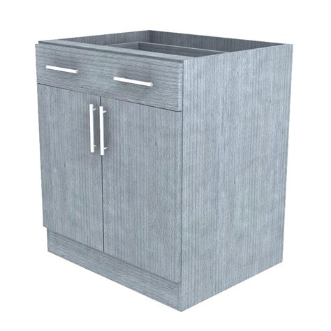 Outdoor Cabinet Doors Weatherstrong Assembled 30x34 5x24 In Miami Island Outdoor Kitchen Base Cabinet With 2 Doors