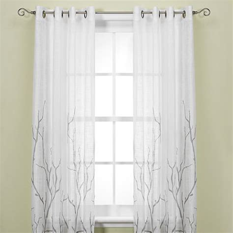 alton solid grommet window curtain panel alton print grommet window curtain panel bed bath and