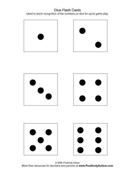 printable dice dot cards printable dice pattern clipart best