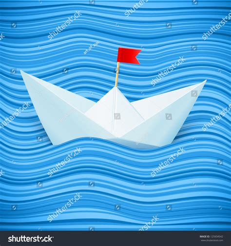 problems with blue wave boats vector paper boat in blue waves of paper sea 125934542