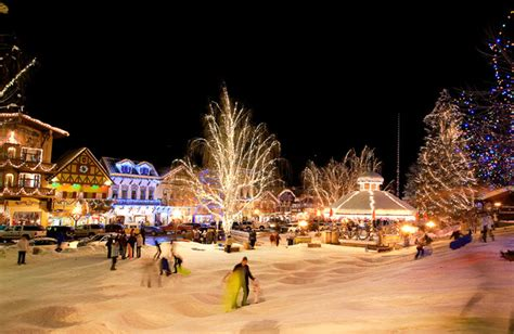 christmas lighting festival leavenworth washington usa