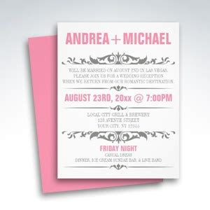 simplicity reception only invitations simplicity