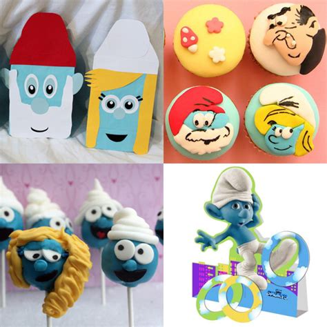 smurfs theme decorations ideas for a smurfs themed birthday popsugar