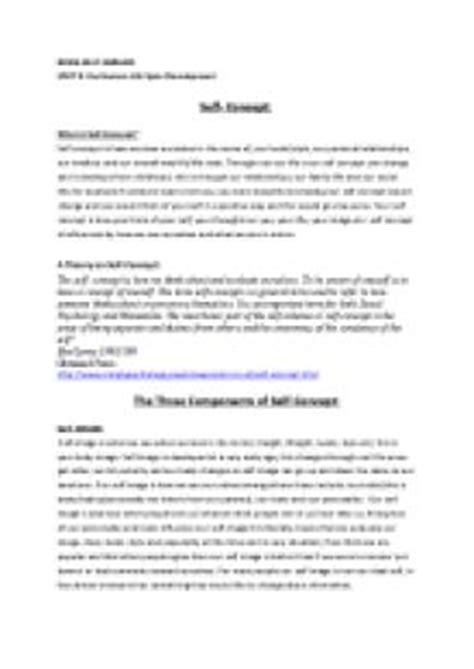 how to write a self concept paper self concept with positive and negative exles a