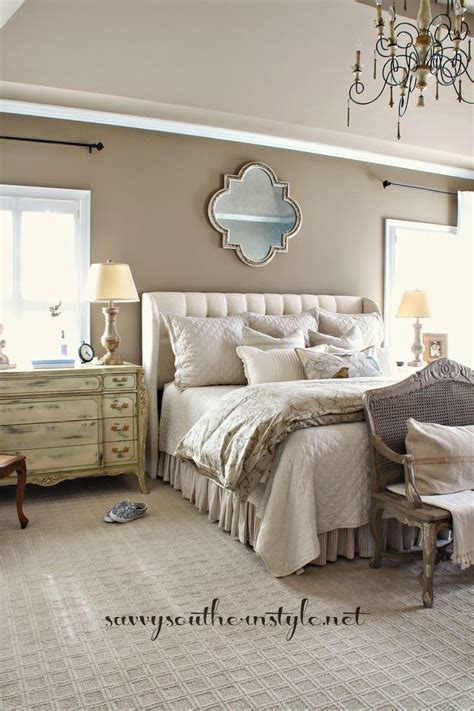 pattern matching in french neutral master bedroom beige wall colors french bench