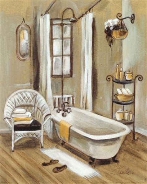 paintings for the bathroom french bath xi print by silvia vassileva at art com