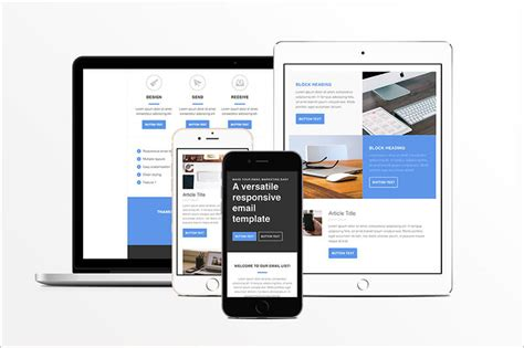 responsive html template 14 email templates free premium templates