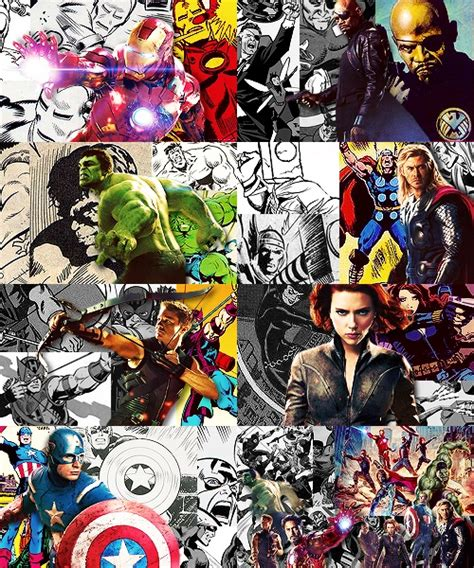 the avengers comic book characters and real life