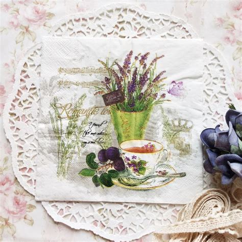 Decoupage Tissue - napkin papers serviettens decoupage tissue cup of tea and