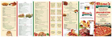 pizza dinner menu bone s pizza restaurant menu berks mont menus