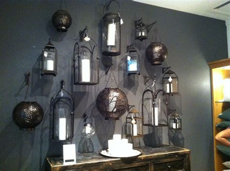 wall of lanterns home decor