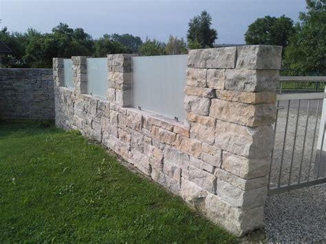 steinmauer als sichtschutz im garten spinjo info