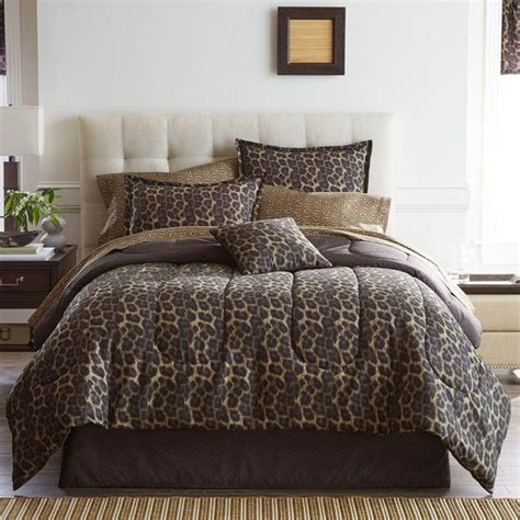 home expressions bedding home expressions safari leopard complete bedding set with