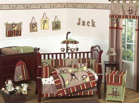 Monkey Crib Bedding For Boys Monkey Animal Jungle Safari Baby Boy Bedding 9pc Boys Crib Set Baby Bedding Center