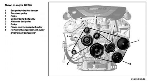 solved: diagram on belt replacement on 2008 mercedes benz