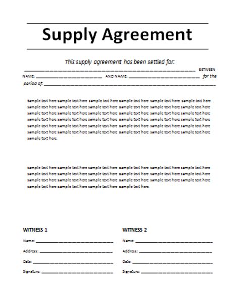 Agreement Letter Between Company And Customer 7 Agreement Templatereport Template Document Report Template