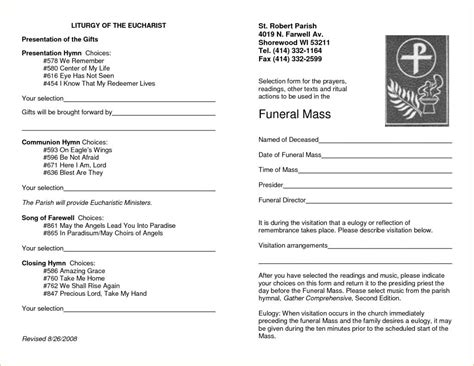 Free Memorial Service Program Template Template Business Free Memorial Service Program Template