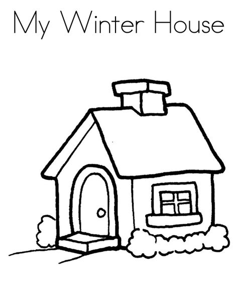 Galerry house coloring pages online