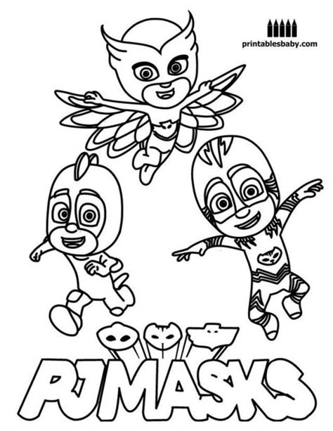 pj masks coloring pages disney pj masks in action coloring and sticker pages coloring pages