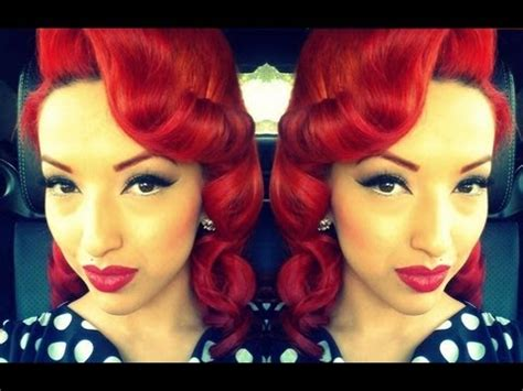 vintage hairstyles curling iron retro vintage style pin curls youtube